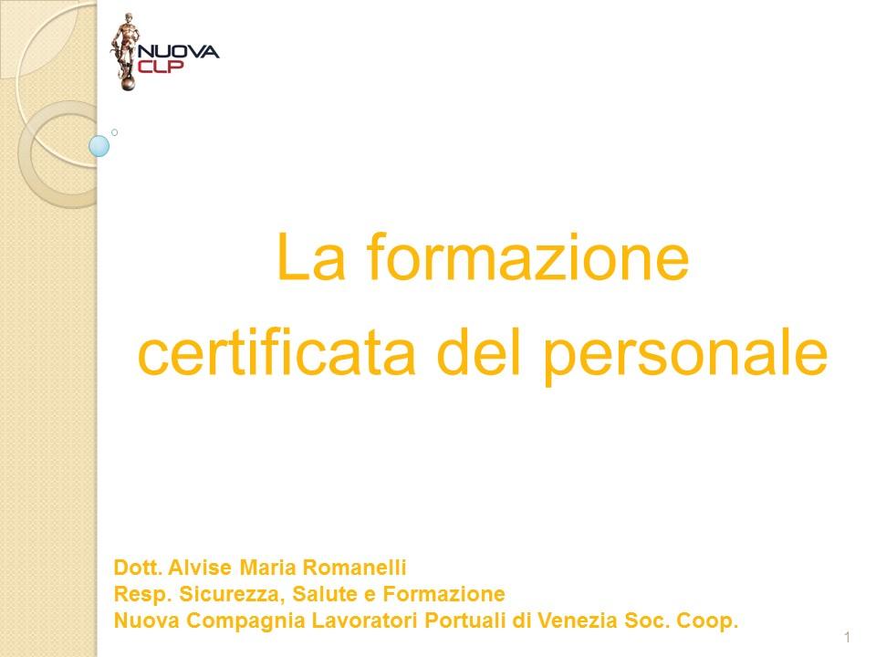 Formazione certificata per sito web